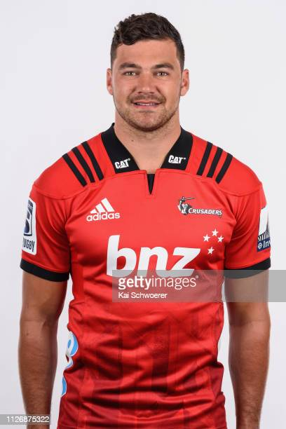 David Havili poses during the Crusaders 2019 Super Rugby headshots session on February 01 2019 in Christchurch New Zealand