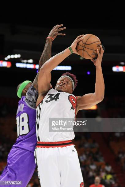 David Hawkins of Trilogy goes up for a layup against the Ghost Ballers during week eight of the BIG3 three on three basketball league at...