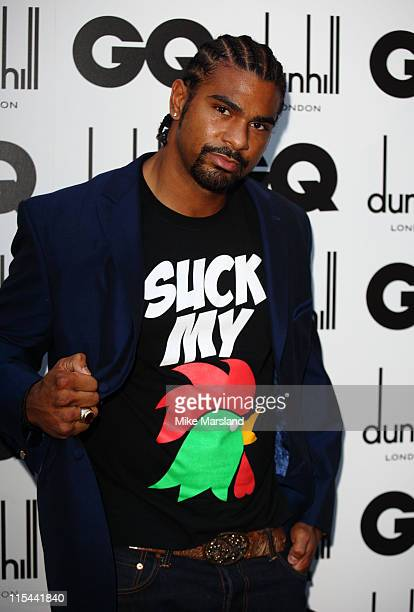 David Haye arrives for the 2009 GQ Men Of The Year Awards at The Royal Opera House on September 8 2009 in London England