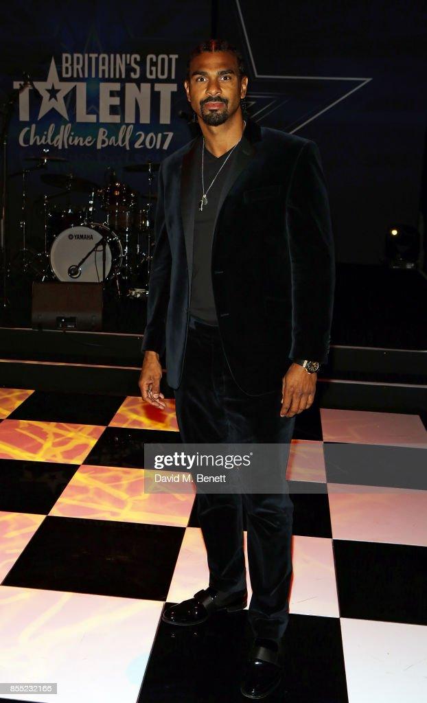 David Haye attend the Britain's Got Talent Childline Ball at Old Billingsgate Market on September 28, 2017 in London, England.