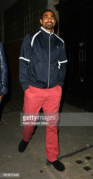 David Haye attending the launch of new fashion brand KEY at Vanilla on September 25 2013 in London England
