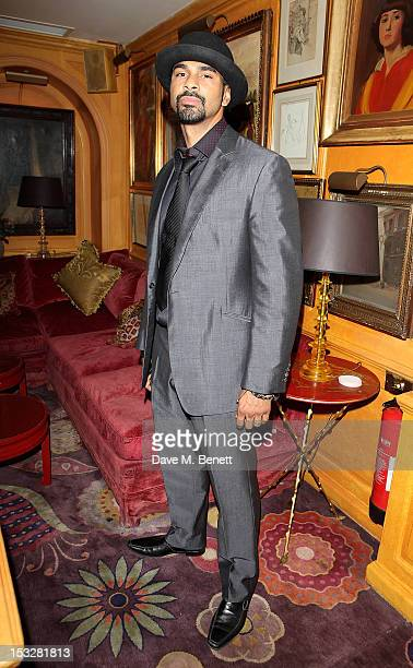 David Haye attends Ben Caring's birthday party at Annabel's on October 2 2012 in London England