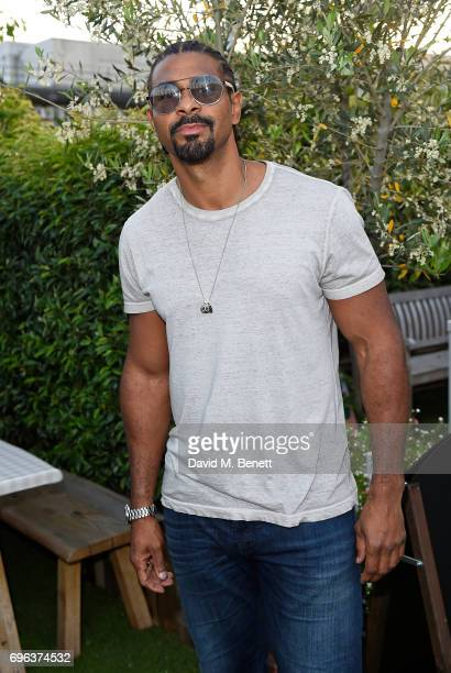 David Haye attends Microsoft's Surface Garden Sessions at The Gardening Society on June 15 2017 in London England