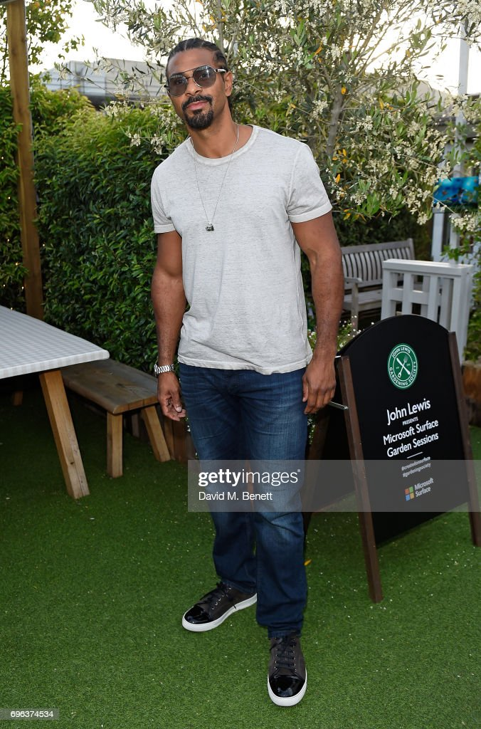 David Haye attends Microsoft's Surface Garden Sessions at The Gardening Society on June 15, 2017 in London, England.