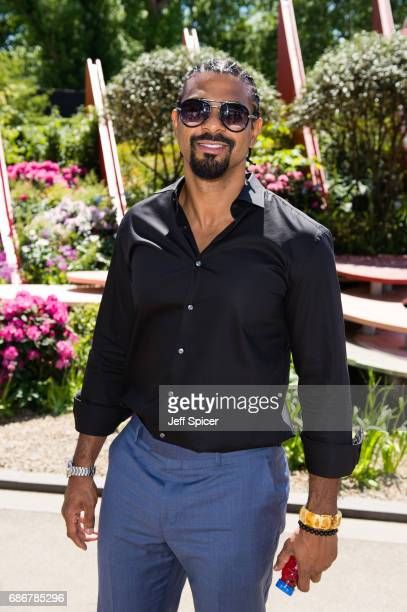 David Haye attends RHS Chelsea Flower Show press day at Royal Hospital Chelsea on May 22 2017 in London England