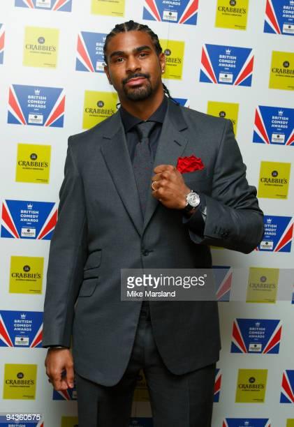 David Haye attends the British Comedy Awards on December 12 2009 in London England