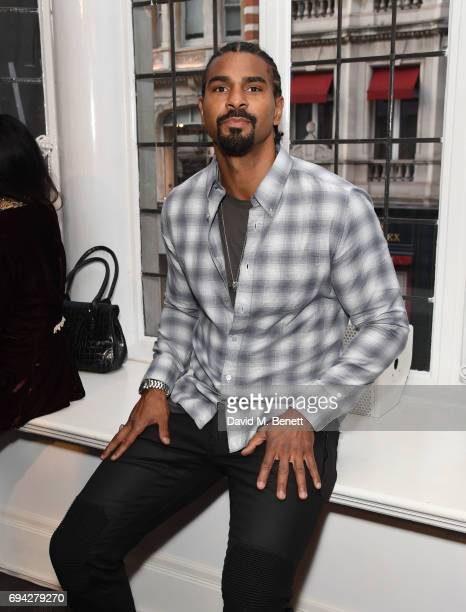 David Haye attends the dunhill London presentation during the London Fashion Week Men's June 2017 collections on June 9 2017 in London England