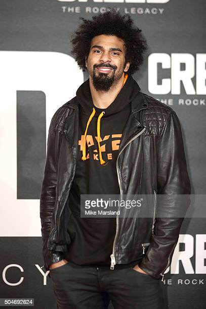 David Haye attends the European Premiere of 'Creed' on January 12 2016 in London England