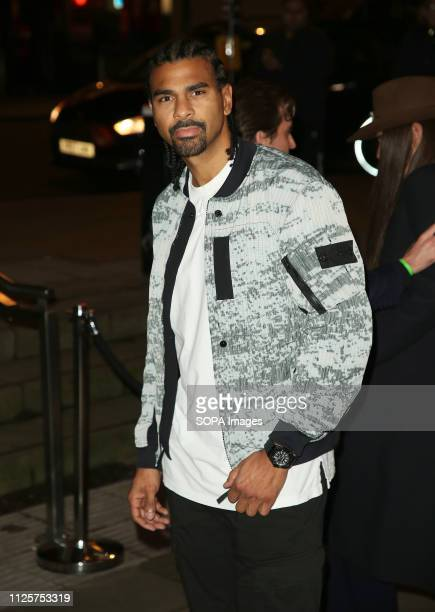 David Haye attends the Fabulous Fund Fair as part of London Fashion Week event