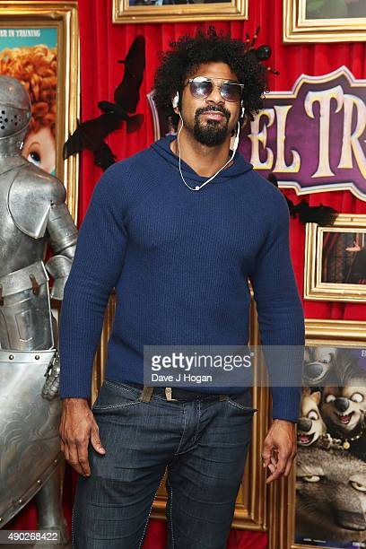 David Haye attends the Hotel Transylvania 2 Tea Party and Gala Screening at The Soho Hotel on September 27 2015 in London England