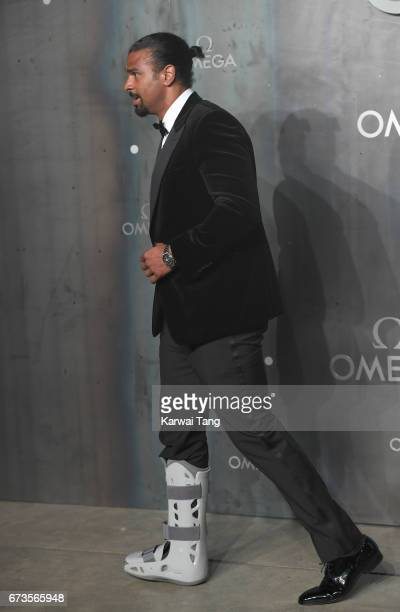 David Haye attends the Lost In Space event to celebrate the 60th anniversary of the OMEGA Speedmaster at the Tate Modern on April 26 2017 in London...