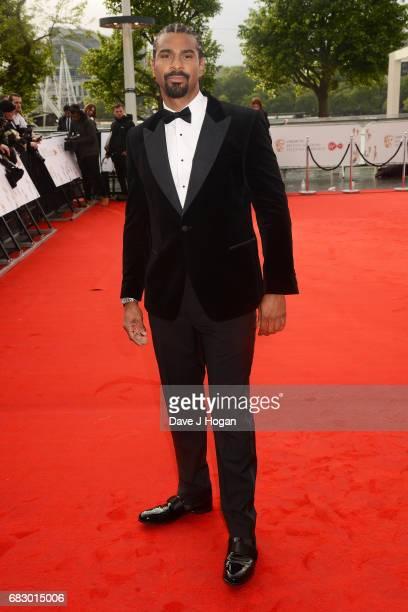 David Haye attends the Virgin TV BAFTA Television Awards at The Royal Festival Hall on May 14 2017 in London England