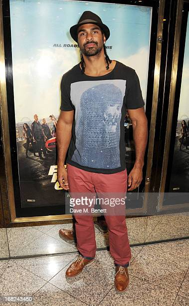 David Haye attends the World Premiere of 'Fast Furious 6' at Empire Leicester Square on May 7 2013 in London England
