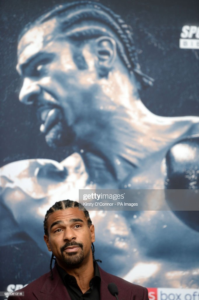 David Haye during the press conference at Park Plaza Westminster Bridge, London.