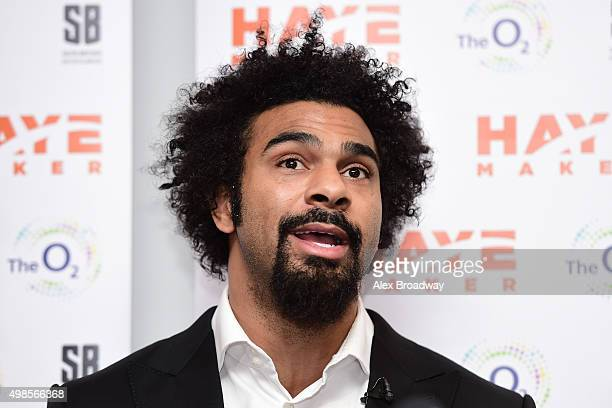 David Haye speaks during a press conference at The O2 Arena on November 24 2015 in London England