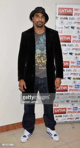 David Haye the British undisputed world cruiserweight champion attends The International Football Awards on September 13 2009 in London England