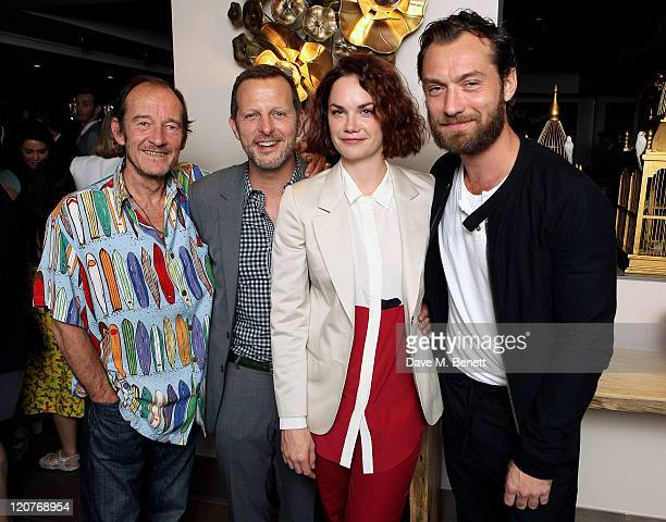 David Hayman director Rob Ashford Ruth Wilson and Jude Law attend an after party following Press Night of 'Anna Christie' at the Donmar Warehouse on...