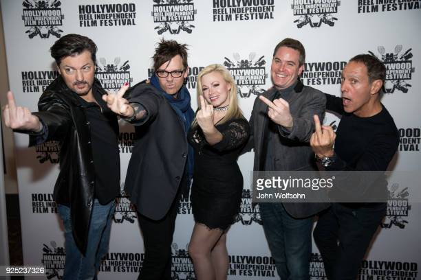 David Hayter Matthew Currie Holmes Jessica Cameron Ryan Shore and Paul Weber arrive at Buckout Road Premiere at the Hollywood Reel Independent Film...