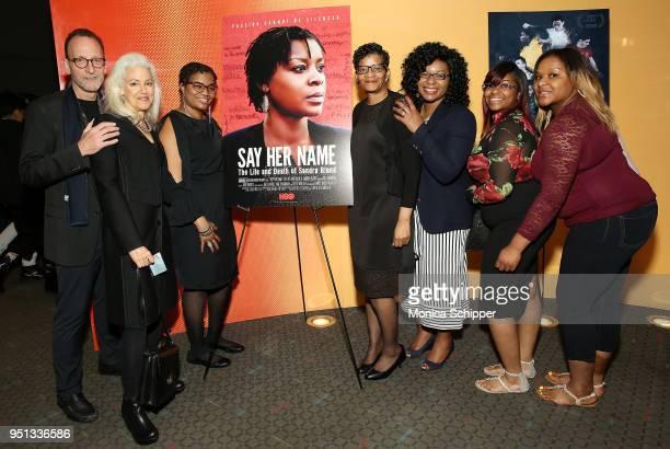 David Heilbroner Kate Davis Shante Needham Geneva ReedVeal Sharon Cooper Sierra Cole and Shavon Bland attend the HBO Documentary Film 'Say Her Name...