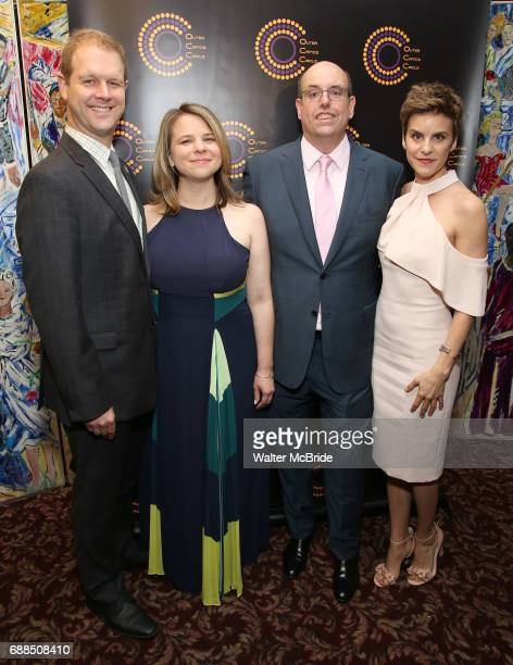 David Hein Irene Sankoff Christopher Ashley and Jenn Colella attend the 67th Annual Outer Critics Circle Theatre Awards at Sardi's on May 25 2017 in...