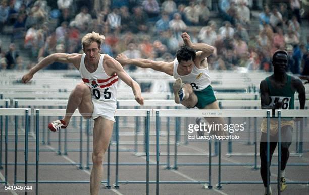 David Hemery of England winning the 110 metres hurdles event at the British Commonwealth Games in Edinburgh 18th July 1970