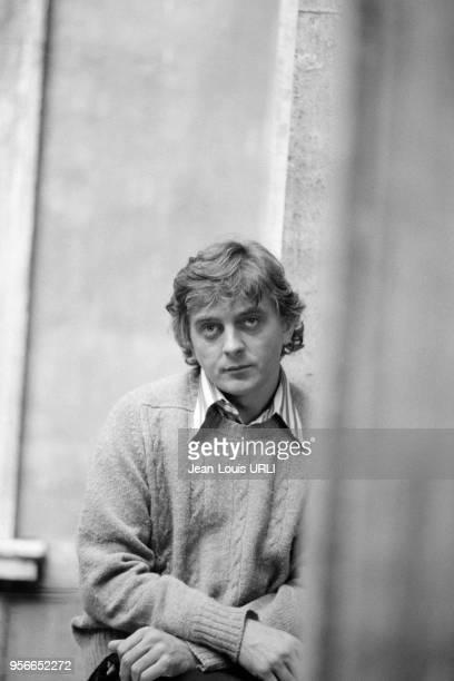 David Hemmings sur le tournage du film 'Les Frissons de l'angoisse' réalisé par Dario Argento à Rome en novembre 1974 Italie