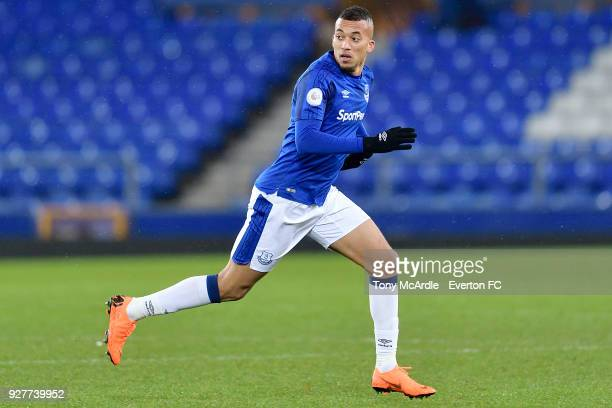 David Henen of Everton during the Premier League 2 match between Everton U23 and Swansea City U23 at Goodison Park on March 5 2018 in Liverpool...