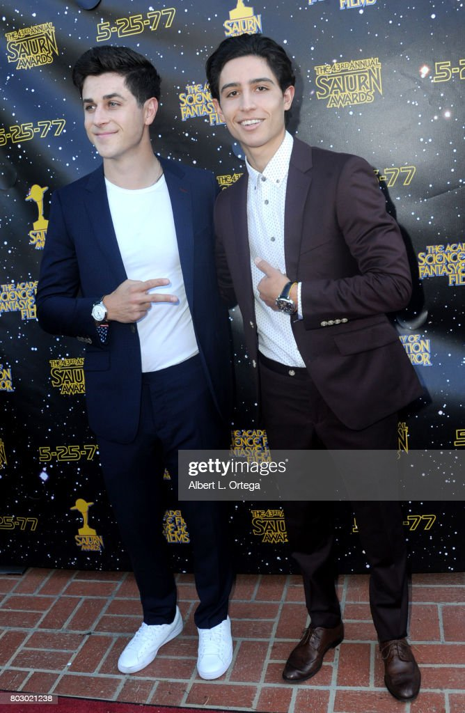 David Henrie and Lorenzo James Henrie attend the 43rd Annual Saturn Awards at The Castaway on June 28, 2017 in Burbank, California.