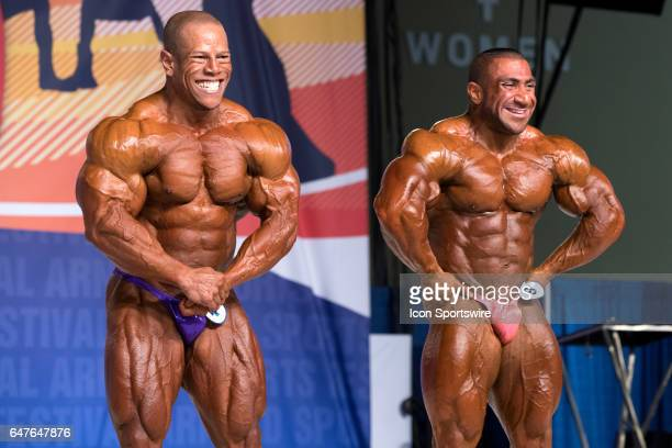 David Henry and Ahmad Ashkanani compete in the Arnold Classic 212 as part of the Arnold Sports Festival on March 3 at the Greater Columbus Convention...