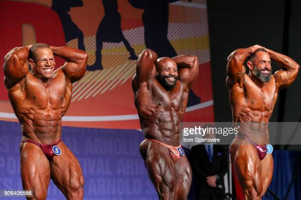 David Henry Charles Dixon and Gaetano Cisternino Jr compete in the Arnold Classic 212 as part of the Arnold Sports Festival on March 2 at the Greater...