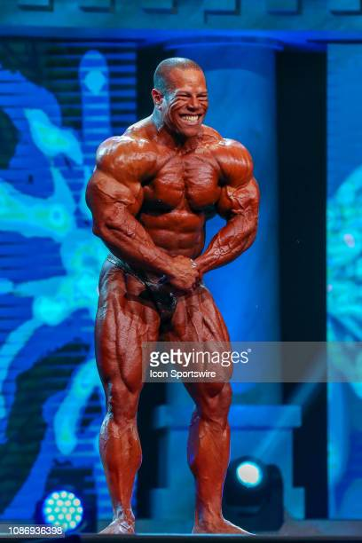 David Henry competes in the Arnold Classic 212 as part of the Arnold Sports Festival on March 2 at the Greater Columbus Convention Center in...