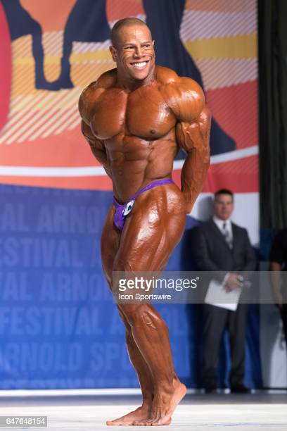 David Henry competes in the Arnold Classic 212 as part of the Arnold Sports Festival on March 3 at the Greater Columbus Convention Center in Columbus...