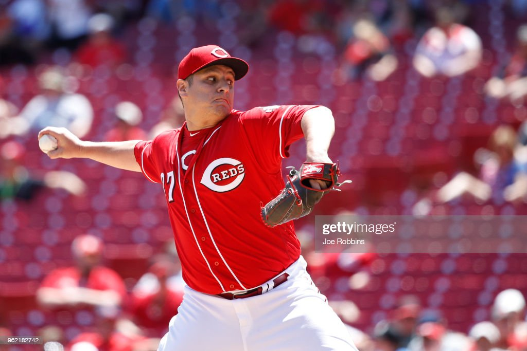 David Hernandez #37 of the Cincinnati Reds pitches in the seventh inning against the Pittsburgh Pirates at Great American Ball Park on May 24, 2018 in Cincinnati, Ohio. The Reds won 5-4.