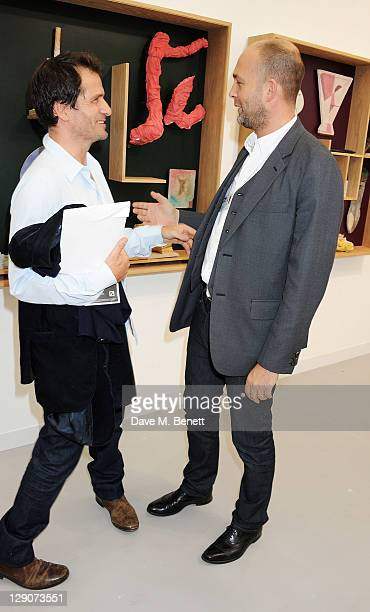 David Heyman and Max Wigram attend a VIP preview of the Frieze Art Fair in Regent's Park on October 12 2011 in London England