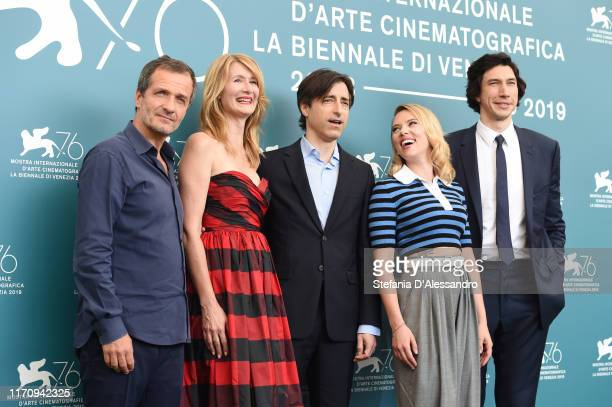David Heyman Laura Dern Noah Baumbach Scarlett Johansson and Adam Driver attends Marriage Story photocall during the 76th Venice Film Festival at...