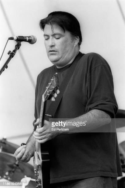 David Hidalgo performs with Los Lobos at the Further Festival on July 28 1996 in Veneta Oregon