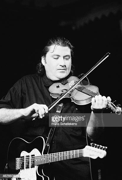 David Hidalgo violin performs with Los Lobos at the Paradiso in Amsterdam the Netherlands on 20th September 1990