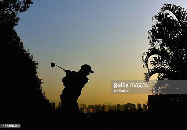 David Higgins of Ireland plays a shot during round two of the 2013 Hong Kong Open at The Hong Kong Golf Club on December 6 2013 in Hong Kong Hong Kong