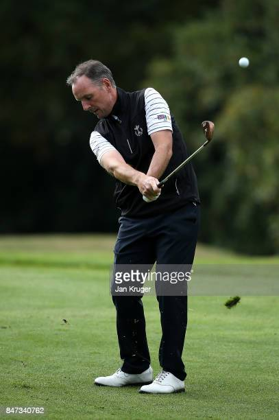 David Higgins of the Great Britain and Ireland PGA Cup team in action during the morning fouball matches on day 1 of the 28th PGA Cup at Foxhills...