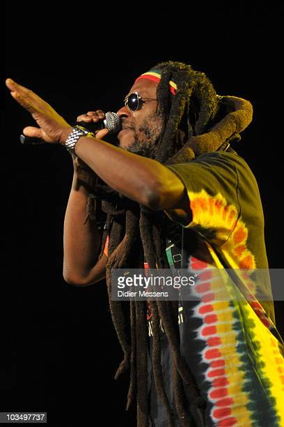 David Hinds from Steel Pulse performs on the fourth and final day of Feest in het park on August 15 2010 in Oudenaarde Belgium
