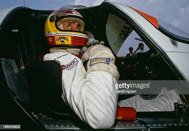 David Hobbs of Great Britain in the cockpit of the Blaupunkt Joest Racing Porsche 962C during practice for the FIA World Sportscar Championship 24...
