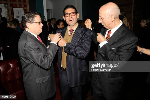 David Hochberg Vincent Martinelli and Luigi Messana attend KAGENO Harambee Back to Basics Annual Benefit at Hudson Terrace on October 26 2009 in New...