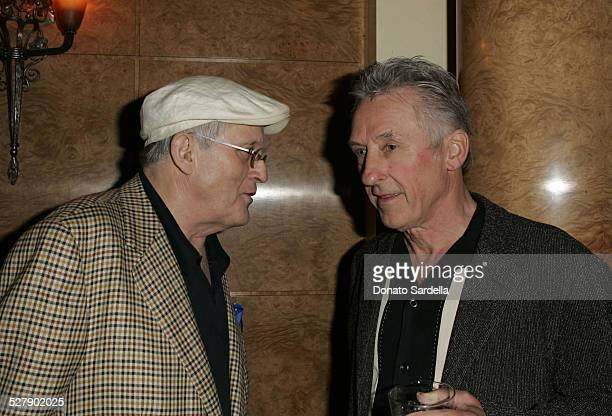 David Hockney and Ed Ruscha during Maria Bell and Bill Bell Host Americans for the Arts National Arts Celebration - March 31, 2005 at Private...