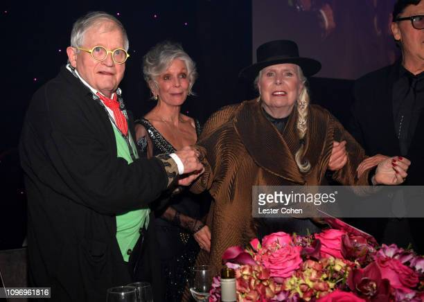 David Hockney and Joni Mitchell attend the PreGRAMMY Gala and GRAMMY Salute to Industry Icons Honoring Clarence Avant at The Beverly Hilton Hotel on...