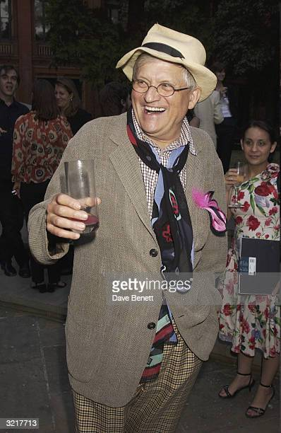 David Hockney attends the Ozzie Clark Retrospective at The Victoria and Albert Museum on July 15 2003 in London