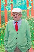 Artist David Hockney Unveils 'The Arrival of Spring' At Centre Georges Pompidou In Paris