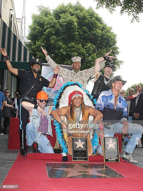 David Hodo Felipe Rose Jeff Olson Ray Simpson Alexander Briley and Eric Anzalone attend the Ceremony to honor The Village People with a star on The...