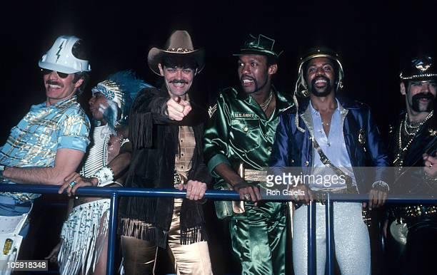 David Hodo Felipe Rose Randy Jones Ray Simpson and Glenn Hughes of the second lineup of American disco group Village People