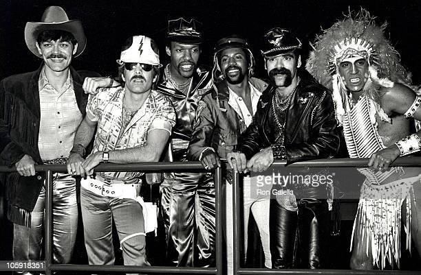 David Hodo Felipe Rose Randy Jones Ray Simpson and Glenn Hughes of the second lineup of American disco group Village People June 19 1980 at Lincoln...