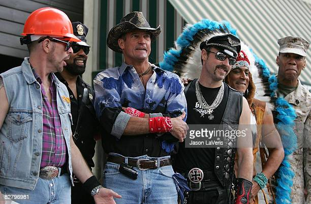 David Hodo Ray Simpson Jeff Olson Eric Anzalone Felipe Rose Ray Simpson and Alex Briley of The Village People are inducted into the Hollywood Walk of...
